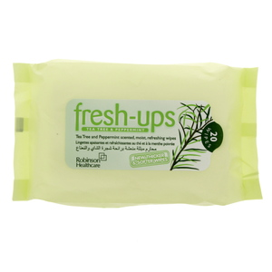 Robinson Healthcare Fresh-Ups Tea Tree And Peppermint Scented Refreshing Wipes 20'S