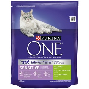 PURINA ONE Sensitive Cat Turkey and Rice 800g