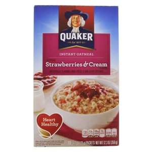 Quaker Instant Oatmeal Strawberry & Cream 350g