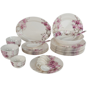 Melamine Dinner Set Siam Orchid 34pcs