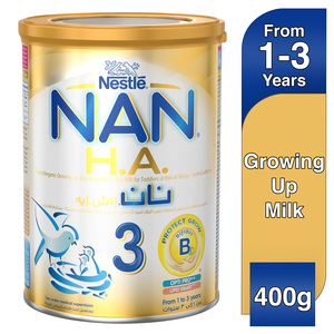 Nestle NAN H.A. Stage 3 From 1 to 3 years Hypoallergenic Growing Up Milk Fortified with Iron 400g