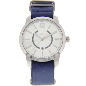 Giordano Men's Analog Watch Blue Strap With White Dial 1791-02
