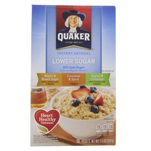 Quaker Instant Oatmeal Variety Flavor Lower Sugar 328g