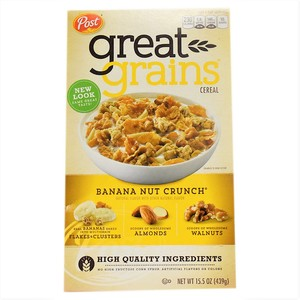 Post Great Grains Banana Nut Crunch Cereal 439g