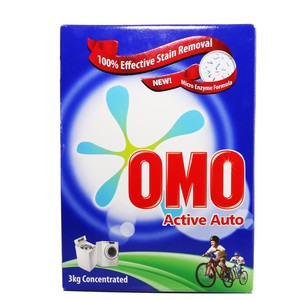 OMO Active Auto Fabric Cleaning Powder 3kg