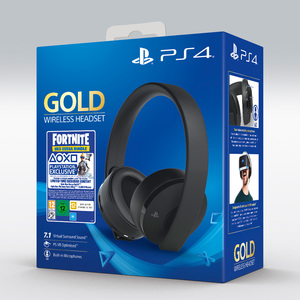 Sony Gold Wireless Gaming Headset for PlayStation 4 + Fortnite Voucher 2019
