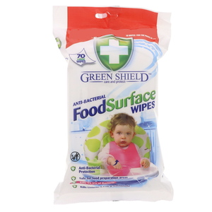 Green Shield Food Surface Wipes 70Pcs
