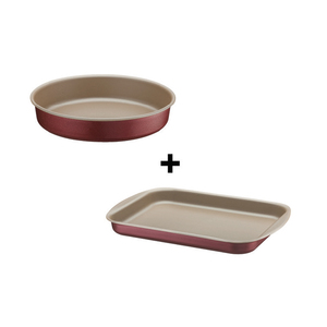 Tramontina Roasting Pan Set 24cm + 34cm