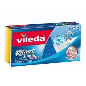 Vileda Glitzi Jumbo Bathroom Cleaner Sponge High Foam Scourer 1pc