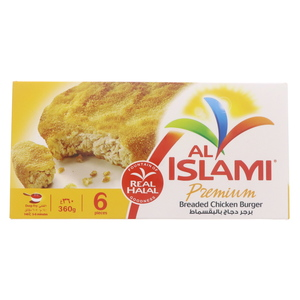 Al Islami Premium Breaded Chicken Burger 360g