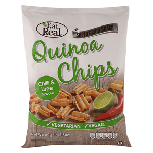 Eat Real Quinoa Chips Chilli and Lime Flavour 80g