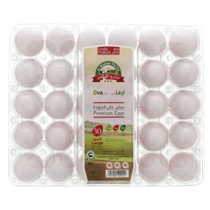 Ova White Eggs Large 30pcs