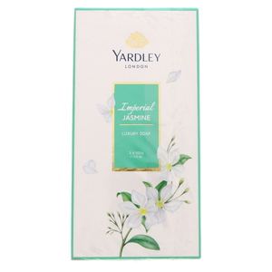 Yardley Imperial Jasmine Luxury Soap 3 x 100g