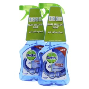 Dettol Glass Cleaner Sparkling Shine 500ml x 2