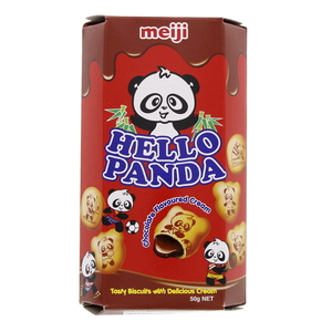 Meiji Hello Panda Chocolate Flavoured Cream 50g