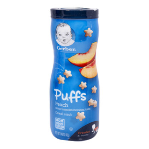 Gerber Puffs Cereal Snack Peach 42g