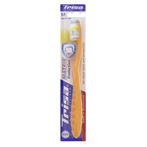 Trisa Medium Tooth Brush Matrix 1pc Assorted Colours
