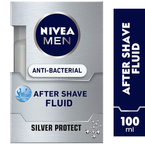 Nivea Men Anti-Bacterial After Shave Fluid Silver Protect 100ml