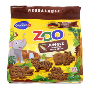 Bahlsen Zoo Jungle Animals Biscuits With Cocoa 100g