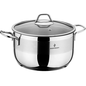 Sofram Stainless Steel Cooking Pot With Lid 24cm