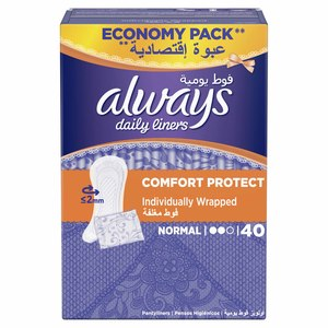 Always Daily Liners Comfort Protect 40pcs