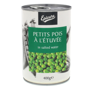 Epicure Petits Pois A L'Etuvee In Salted Water 400g