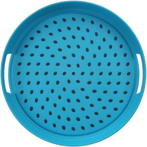 Home Round Anti Skid Tray 38cm Assorted Color