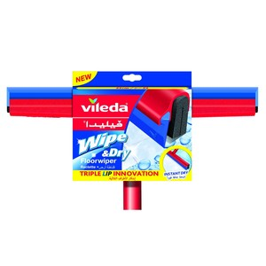 Vileda Wipe & Dry Floor Wiper with Stick 1pc