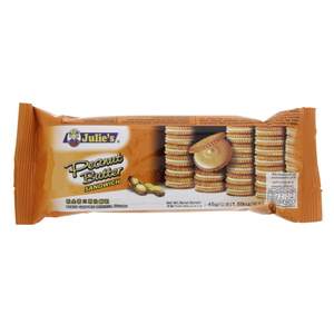 Julies Peanut Butter Sandwich Biscuits 45g