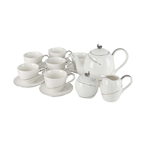 Pearl Noire Tea Set W0456 15pcs