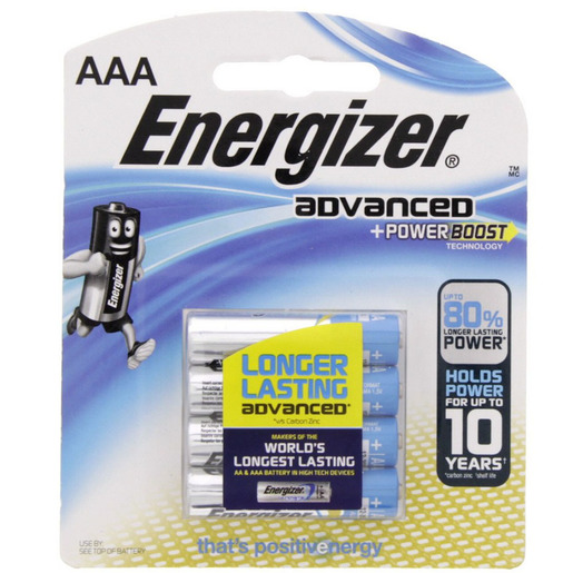 Buy Energizer Advanced +Power Boost AAA Battery X92RP4 - Premium
