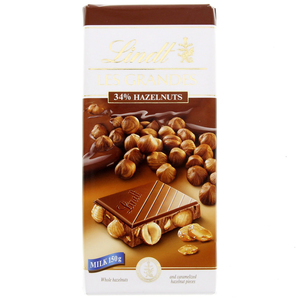 Lindt Les Grandes 34 % Hazelnut Milk Chocolate 150g