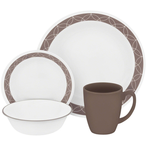 Corelle Dinner Set Sand Sketch 16pcs