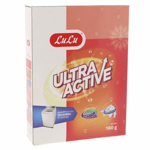 Lulu Ultra Active Washing Powder Top Load 160g