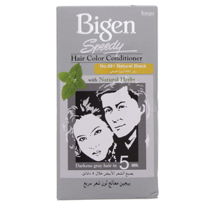 Bigen Speedy Hair Color Conditioner No.881 Natural Black 1 Pkt