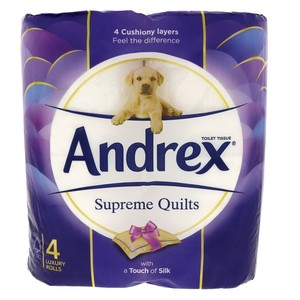 Andrex Supreme Quilts Toilet Tissue 4Pcs