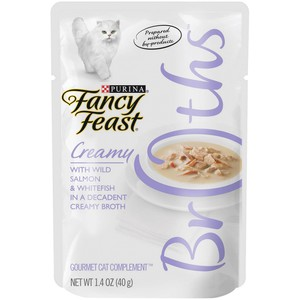 Purina Fancy Feast Broths Salmon & Whitefish Wet Cat Food 40g