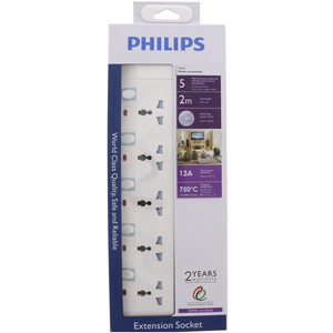 Philips Universal Extension 5Way 2Mtr