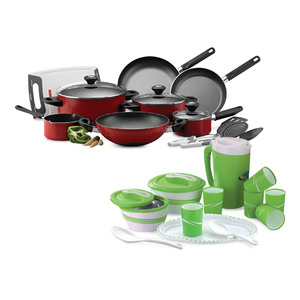 Prestige Cookware Set 14pcs + Winsor Picnic Set 12pcs