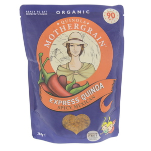 Quinola Mother Grain Organic Express Quinoa Spicy Mexican 250g