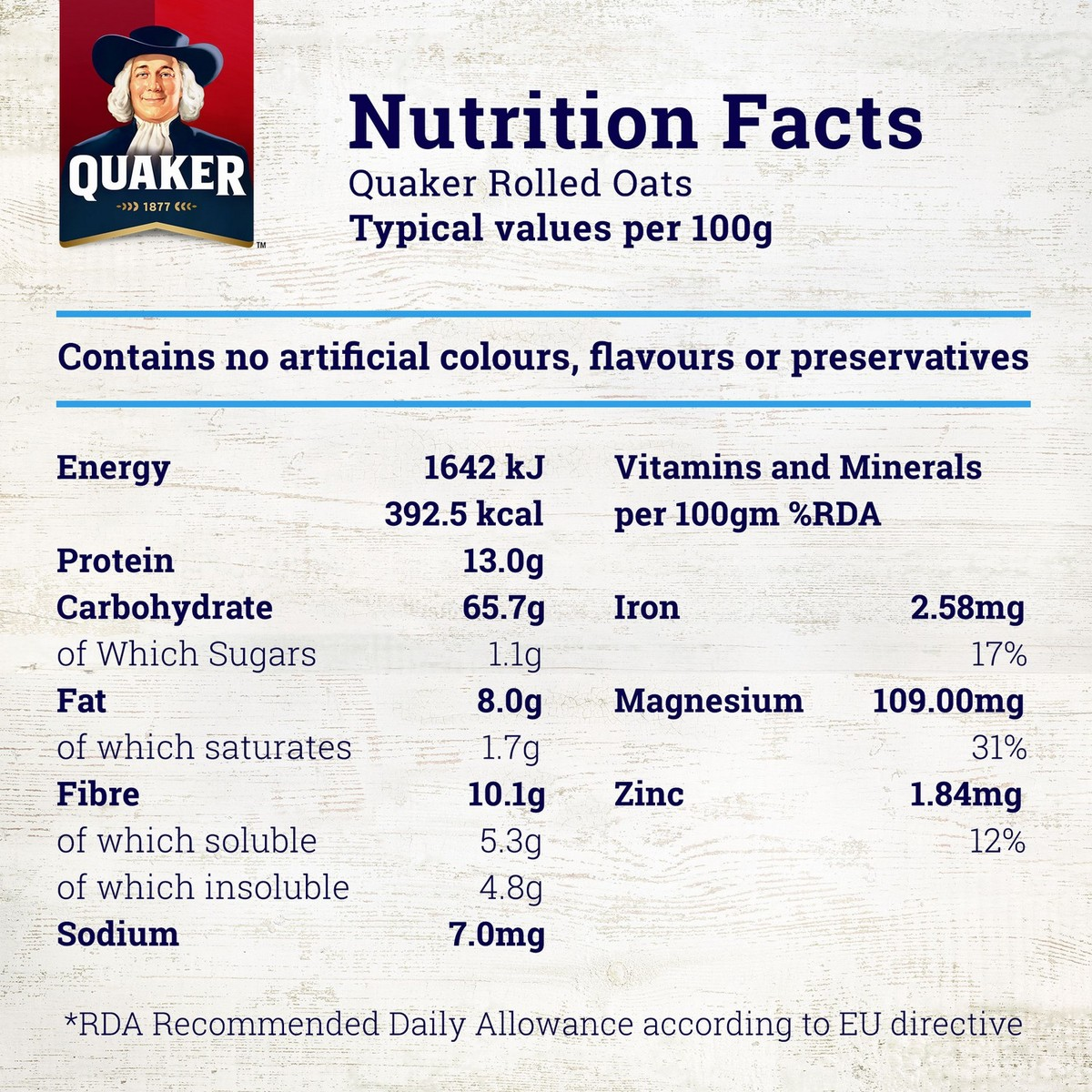 Buy Quaker Quick Cooking White Oats