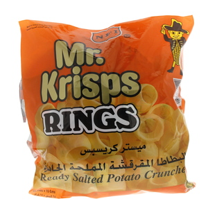 Mr. Krisps Rings Ready Salted Potato Crunches 15g x 25 Pieces