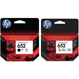 HP Ink Cartridge 652 Black & Tri-Color Combo Pack