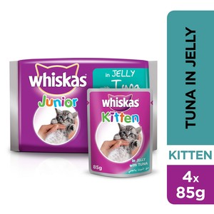 Whiskas® Kitten Tuna in Jelly Pouch 85g x 4pack