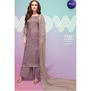 Semi Stitched Women's Churidar Material Fiona Royal 22192