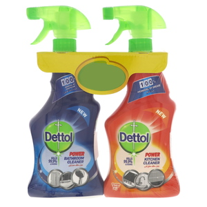 Dettol Power Bathroom Cleaner 500ml + Kitchen Cleaner 500ml