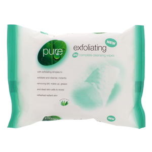 Pure Exfoliating complete cleansing wipes 20Pcs
