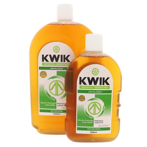 Kwik Antiseptic Disinfectant 1Litre + 500ml