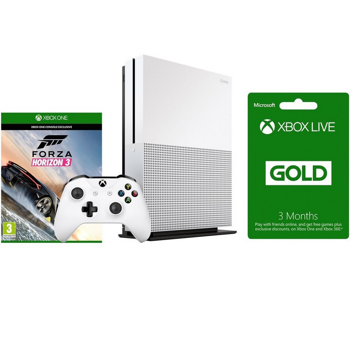 Buy Xbox One S Console 500GB + Forza Horizon 3 + 3 months live gold