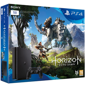 PS4 500 GB Slim Console + Horizon Zero Dawn + UC4 + 3 Months PS Plus Card
